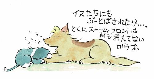 犬に泣きつく猫